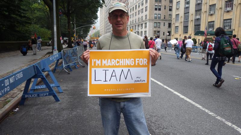 I was marching for my grandson Liam.