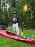 TRC's intrepid kayaker, Kevin Haight, ready to go [Click here to view full size picture]